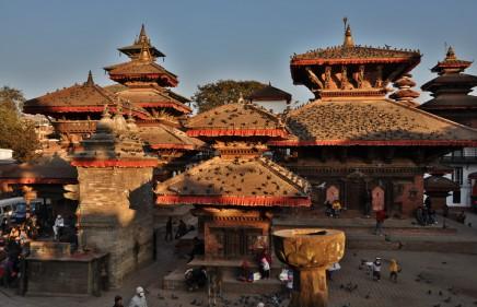Durbr square, Káthmándú v Nepálu