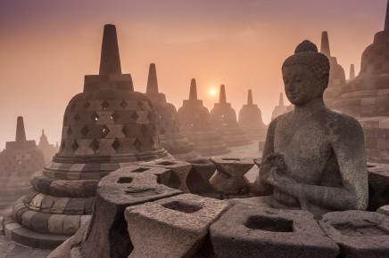 chrám Borobudur, Indonésie