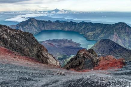 sopka Rinjani v Indonésii