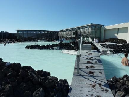 Modrá laguna, koupání na Islandu