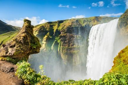 zlatý vodopád Gullfoss na Islandu