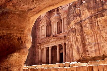 skalní chrám Petra, Jordánsko