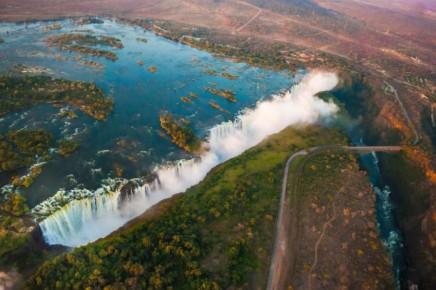Vikotriiny vodopády v Zimbabwe