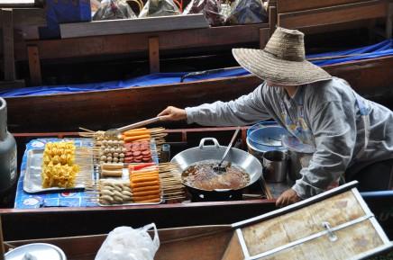 plovoucí trhy, Thajsko