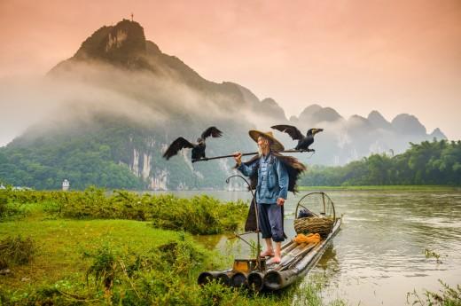 plavba po řece Li v Číně
