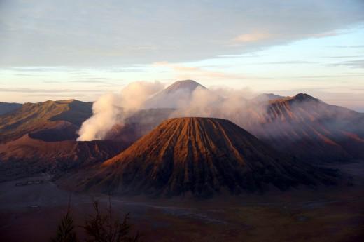 sopka Bromo na ostrově Jáva