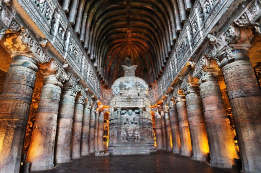 jižní Indie - jeskyně Ajanta