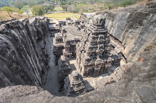 jeskyně Ellora v Indii