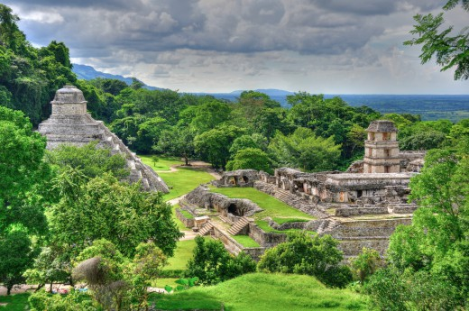 Palenque, Mexiko - Střední Amerika