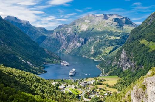 fjord Geiranger, Norsko