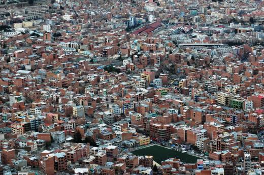 La Paz v Bolívii, jižní Amerika
