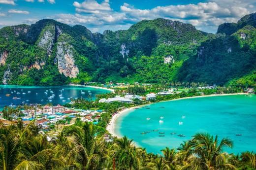 Ostrov Phi Phi, Krabi, Thajsko